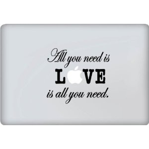 All You Need Is Love Apple MacBook Decal Skin Sticker