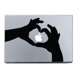 Heart Hands MacBook Decal Mac Apple Skin Sticker