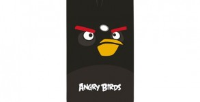 Angry birds iPhone cover black bomber