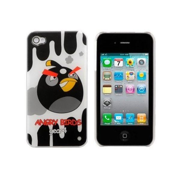 Angry Birds iPhone 4 Case Cover – Black Bomber