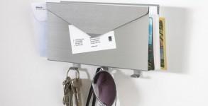 Brushed Aluminum Letter Organizer