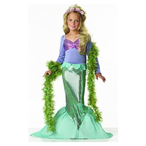 Lil mermaid Halloween Costume for Girls