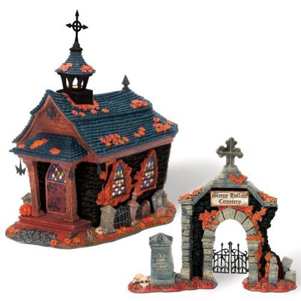 Halloween Snow Village Cemetery
