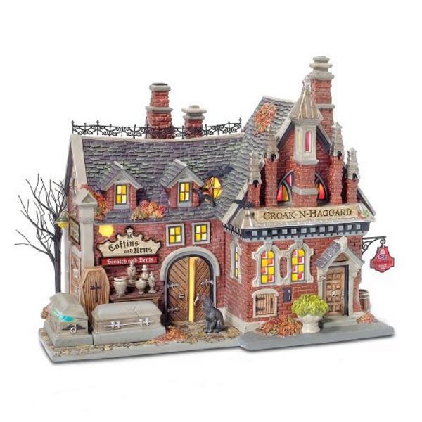 Halloween Snow Village Mortuary