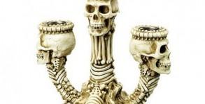 Skeleton Triple Candle Holder