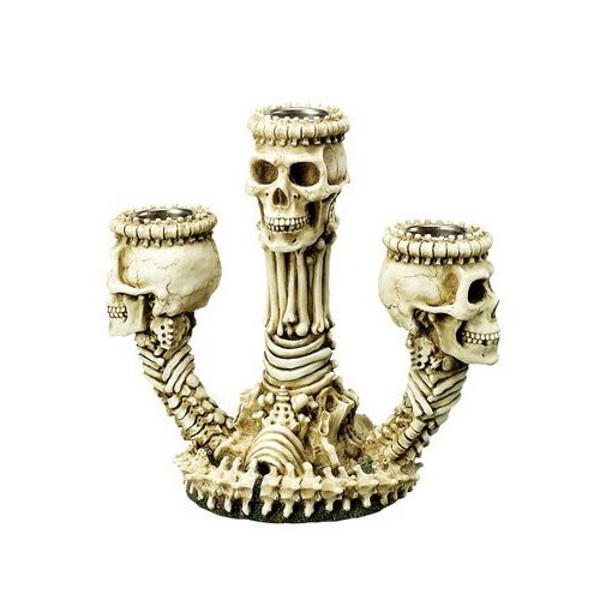 Skeleton Triple Candle Holder