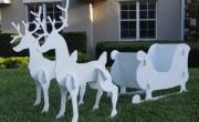 Christmas Santa Sleigh Decoration