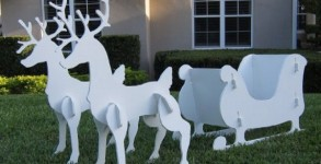 Christmas Santa Sleigh Outdoor Decoration