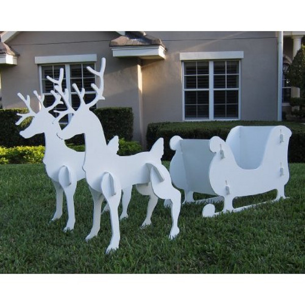christmas santa sleigh decoration