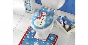 Snowman Toilet Seat Christmas Set