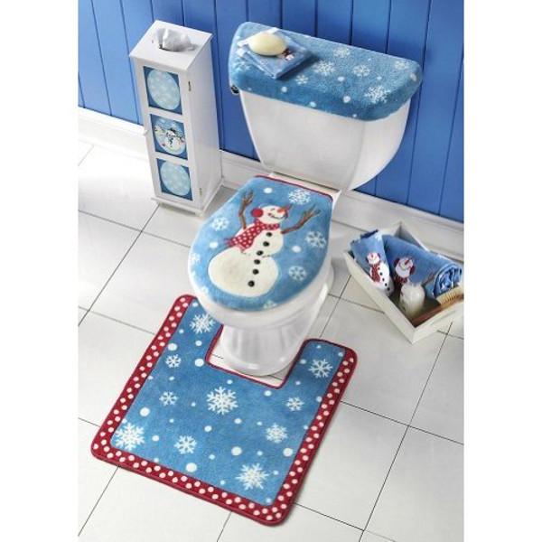 Snowman Toilet Seat Set