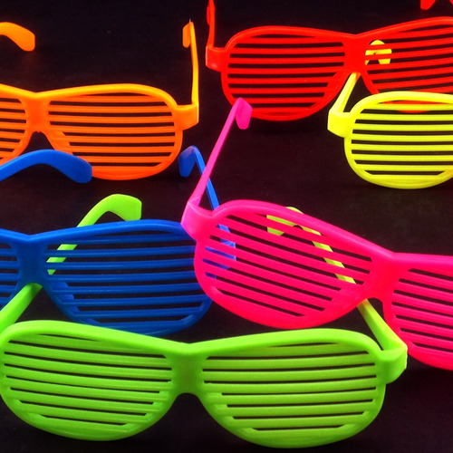 80's Party Shutter Shade Sunglasses