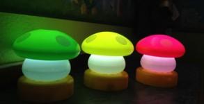 Mushroom night lamps